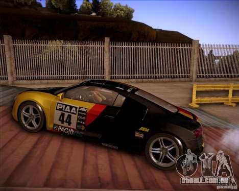 Audi R8 Shift para GTA San Andreas esquerda vista