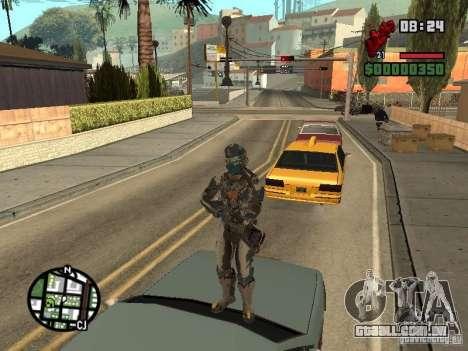 O traje dos jogos Dead Space 2 para GTA San Andreas
