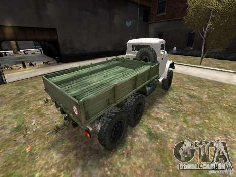 ZIL 131 para GTA 4 vista de volta