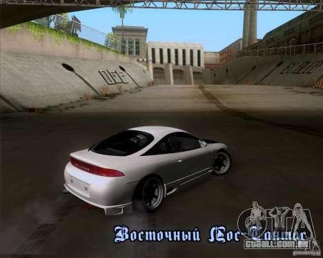 Mitsubishi Eclipse para GTA San Andreas vista interior