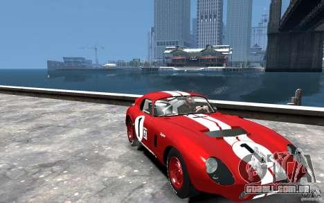 Shelby Cobra Daytona Coupe 1965 para GTA 4 vista de volta