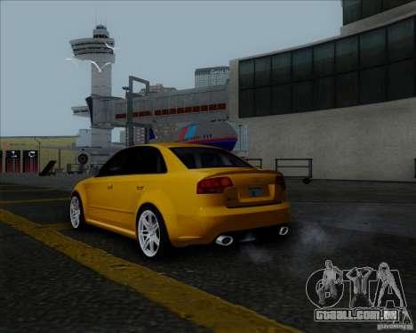 Audi RS4 para GTA San Andreas vista direita