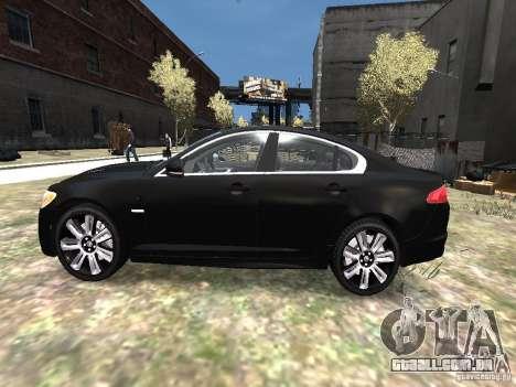 Jaguar XFR para GTA 4 esquerda vista