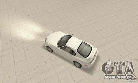 Toyota Supra 1998 stock para GTA San Andreas traseira esquerda vista