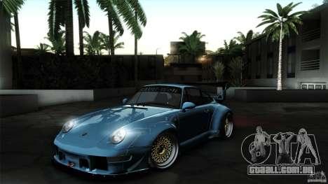 Porsche 993 RWB para GTA San Andreas traseira esquerda vista