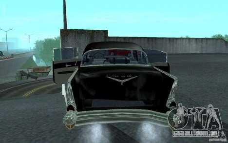 Chevrolet BelAir 4 Door Sedan 1957 para GTA San Andreas vista direita