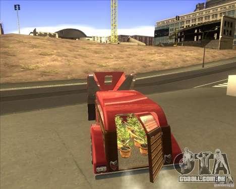 Custom Woody Hot Rod para GTA San Andreas traseira esquerda vista