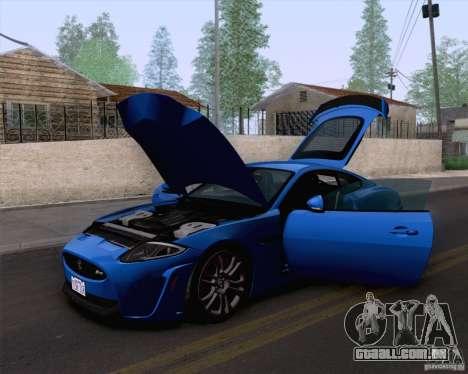 Jaguar XKR-S 2012 para GTA San Andreas traseira esquerda vista