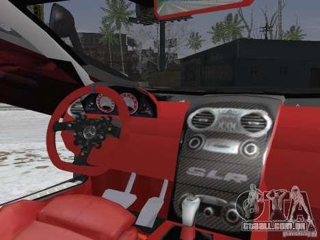 Mercedes-Benz SRL 722 Police para GTA San Andreas vista interior