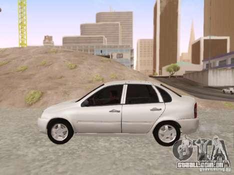 LADA Kalina sedan para GTA San Andreas esquerda vista