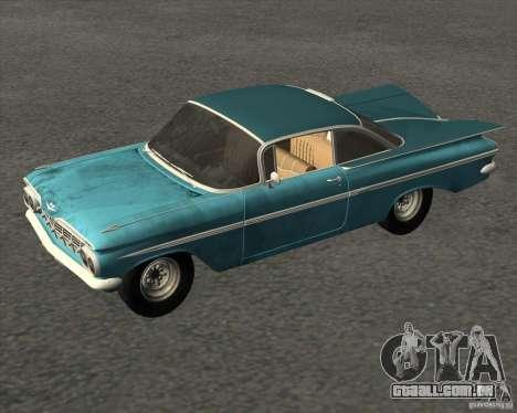 Chevrolet Impala Coupe 1959 Used para GTA San Andreas vista direita