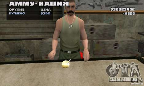 The Holy Grenade para GTA San Andreas segunda tela