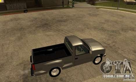 Chevrolet Silverado 1500 para GTA San Andreas traseira esquerda vista