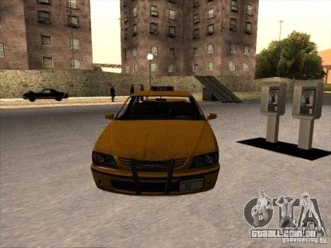 Táxi de GTA IV para GTA San Andreas vista direita