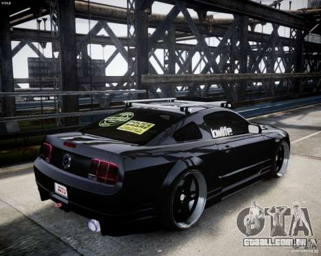 Ford Mustang GT Lowlife para GTA 4 vista direita
