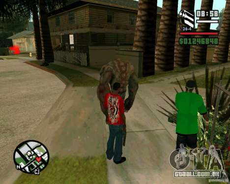Tanque do Left 4 Dead. para GTA San Andreas terceira tela
