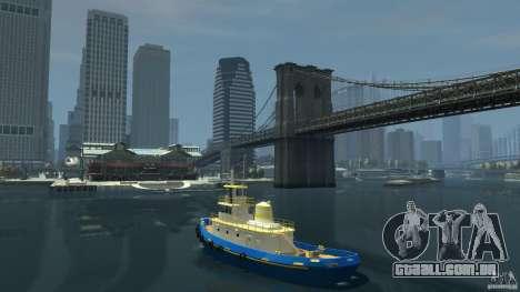 New Tug Texture v.2 para GTA 4 traseira esquerda vista