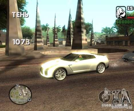 Discos em qualquer lugar para GTA San Andreas segunda tela