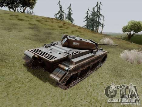 PzKpfw II Ausf.B para GTA San Andreas traseira esquerda vista