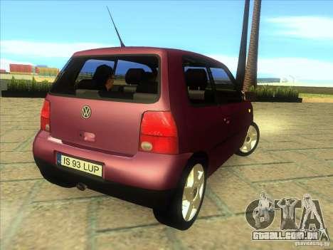 Volkswagen Lupo para GTA San Andreas vista direita