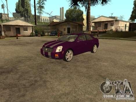 Cadillac CTS para GTA San Andreas vista interior