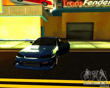 Nissan Silvia C-West para vista lateral GTA San Andreas