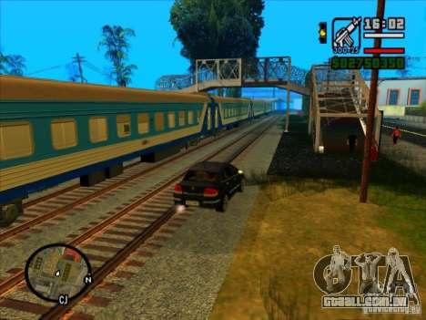 Trem longo para GTA San Andreas segunda tela