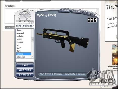 Weapon pack para GTA San Andreas nono tela