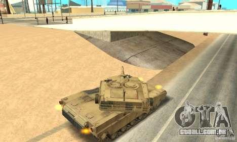Tanque M1A2 Abrams para GTA San Andreas vista direita