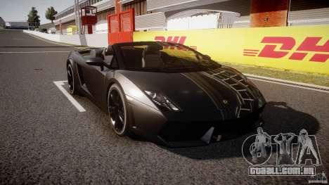 Lamborghini Gallardo LP560-4 Spyder 2009 para GTA 4 vista de volta