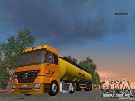 Mercedes-Benz Actros Rosneft para GTA San Andreas vista interior