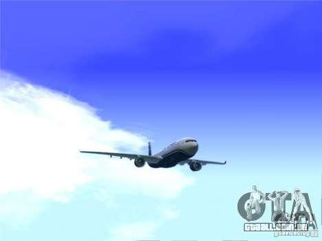 Airbus A330-300 US Airways para GTA San Andreas traseira esquerda vista