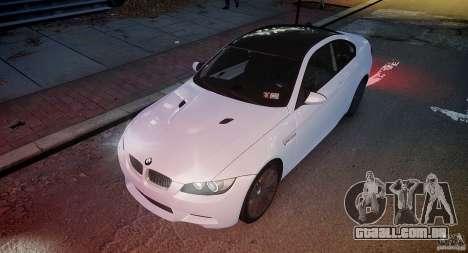 BMW M3 E92 2008 v.2.0 para GTA 4 vista superior