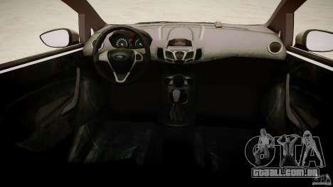 Ford Fiesta 2012 para GTA 4 vista interior