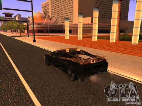 Lamborghini Gallardo Underground Racing para GTA San Andreas vista direita