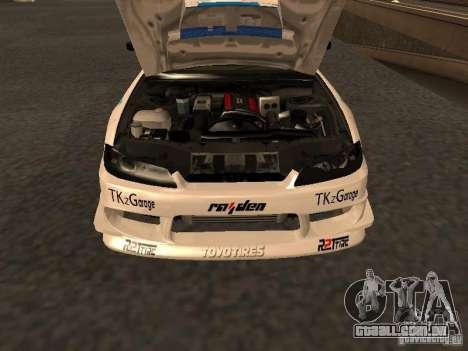 Nissan s15 Performa Drift para GTA San Andreas vista direita
