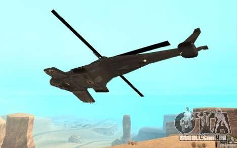 Scout Drone from BO2 para GTA San Andreas esquerda vista