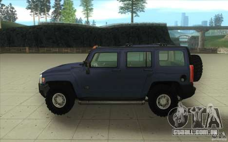 Hummer H3 para GTA San Andreas vista interior