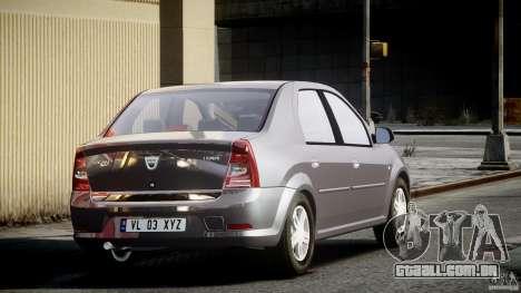 Dacia Logan v1.0 para GTA 4 vista superior