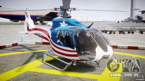Eurocopter EC 130 B4 USA Theme para GTA 4 vista de volta