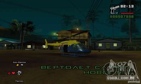Helitour Maverick de GTA 4 para GTA San Andreas