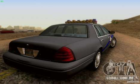 Ford Crown Victoria Kentucky Police para GTA San Andreas esquerda vista