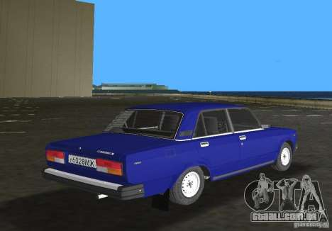 Carro LADA 2107 VAZ para GTA Vice City vista direita