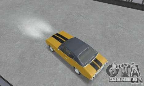 Chevrolet Chevelle SS 1972 para GTA San Andreas traseira esquerda vista