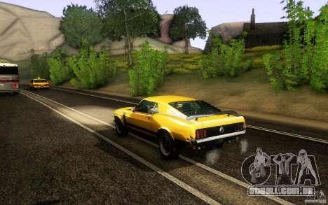 Ford Mustang Boss 302 para GTA San Andreas vista direita