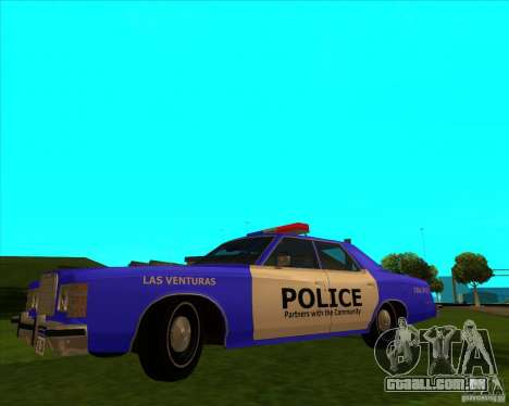Ford Custom 500 4 door police 1975 para GTA San Andreas
