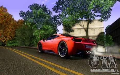 Ferrari 458 Italia Final para as rodas de GTA San Andreas
