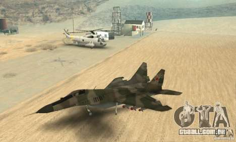 MIG-29 para GTA San Andreas vista direita