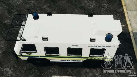 RG-12 Nyala - South African Police Service para GTA 4 vista direita