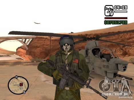 US Air Force para GTA San Andreas terceira tela